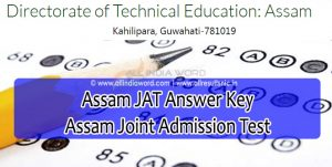 Assam JAT Answer Key 2020 Download - Joint Admission Test